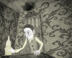"""""""The Black Cat,"""" illustrated by Yohanna Roussel"""