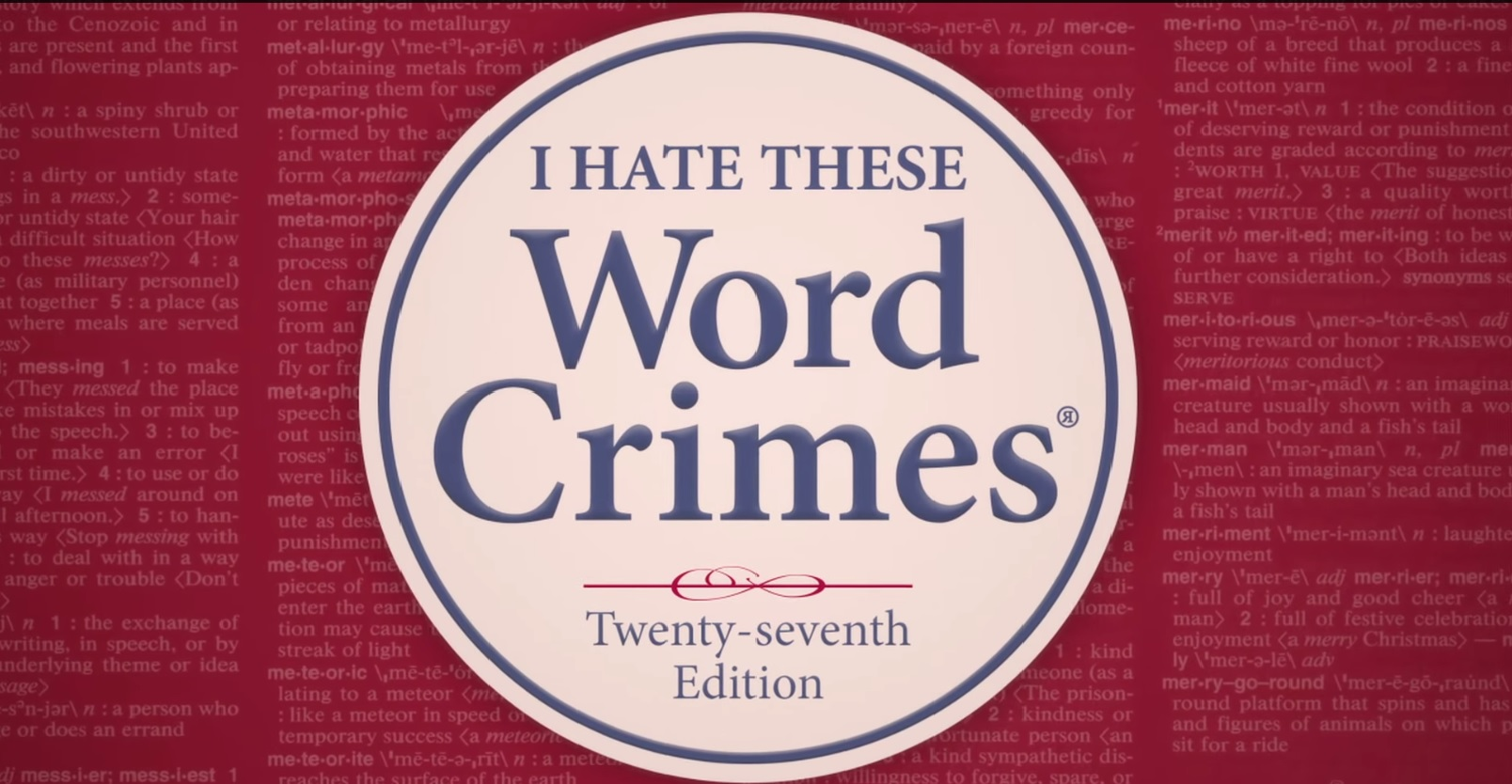 """Word Crimes"" by Weird ""Al"" Yankovic"
